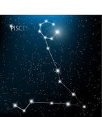 Aquarius Zodiac sign bright stars in cosmos. Raster version — Vector de stock