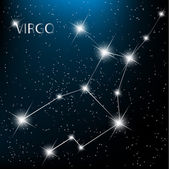 Aquarius Zodiac sign bright stars in cosmos. Raster version — Stockvector