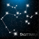 Aquarius Zodiac sign bright stars in cosmos. Raster version — Stock Vector