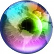 Earth Globe in multicolor human eye — ベクター素材ストック