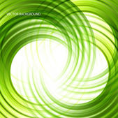 Green abstract wave background — ストックベクタ