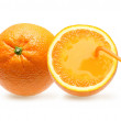 Orange fruit with juice . — Stock Photo