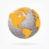 Sketh globe of the world. — Stock Vector