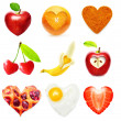Heart symbol food isolated — Stock Photo