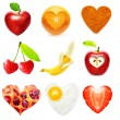 Stock Photo: Heart symbol food isolated