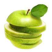 Green apple isolated. — Stock Photo