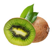 Kiwi fruit with leaves — Stock Photo