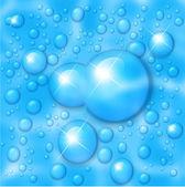Sfondo di gocce d'acqua. — Vettoriale Stock