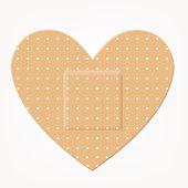 Medical bandage heart shape — Stock Vector