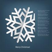 White paper snowflake. — Stock Vector