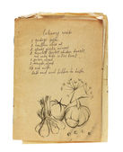 Old recipe book isolated — Stock Photo
