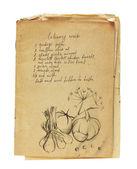 Antigo livro de receitas isolado — Fotografia Stock