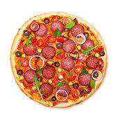 Pizza isolated — Stock Photo