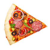 Pizza slice isolated — Stock Photo
