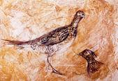 Watercolor partridge. — Stock Photo