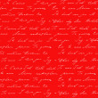 Red background with I love you inscription — Foto Stock