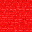 Red background with I love you inscription — Stockfoto
