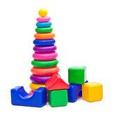 Zabawki na białym tle. — Zdjęcie stockowe