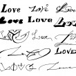 Stockvector : Love inscription.