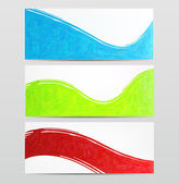 Set of abstract color banner. — Stock Vector