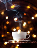 Coffee cup with smoke — Stock Photo