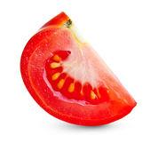 Red tomato slice isolated — Stock Photo