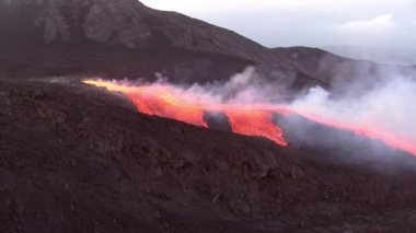 Etna Lava flow — Stock Video