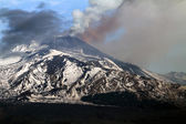 Etna emission ash — Stockfoto