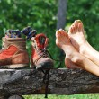 Trekking rest — Stock Photo