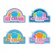 Постер, плакат: Ice Cream Logo