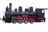 Profile of vintage locomotive — Stock Photo