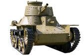 Alte Angriff leichter Panzer — Stockfoto