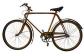 Old wooden bicycle — Stock Photo