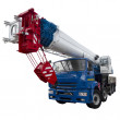 Blue and white truck crane — Stock Photo #32164275