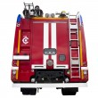 Modern red firetruck — Stock Photo