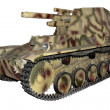 Stock Photo: Camouflaged old self-propelled gun