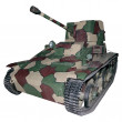 Stock Photo: Vintage light camouflage tank