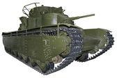 Heavy five-turret tank — Stock Photo