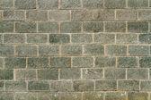 Wall of gray-green bricks — Stock Photo
