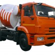Modern orange mixer truck — Stock Photo
