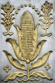 Decorative bas-relief with corn — Stockfoto