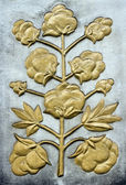 Decorative bas-relief with cotton — Stockfoto