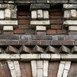 Ornamented old brick wall — Stock Photo
