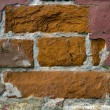 Fragment of old rad brick wall — Stock Photo #34483919