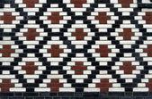 Old brick pattern with rhombus — Stock Photo