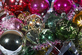 Colorful Christmas decorations — Stock Photo