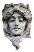 Kıvırcık saçlı kadın baş — Stok fotoğraf