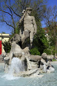 Neptune fountain in the old botanical garden Munich — Stock Photo