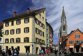 View of the old streets in the town of Konstanz — Stock Photo
