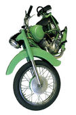 Old light green motorbike — Stock Photo